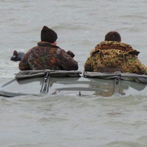 Big & Safe Layout Hunting Boat